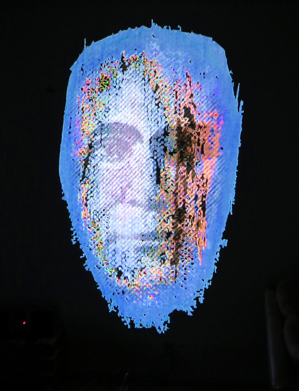 48 portraits projection3 by artist Marianne Casmose1